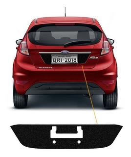 Adesivo Fundo De Placa New Fiesta Hatch 2015/18 Porta-malas