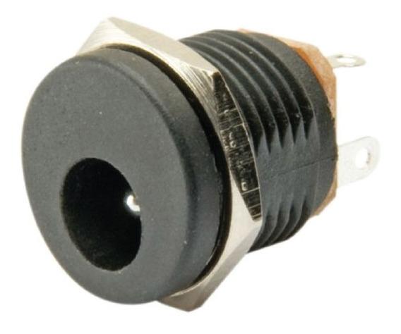 Conector Jack Plug Hembra 5.5 X 2.1 Mm Redondo Dc X 3 Unidad