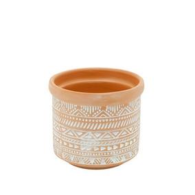 Vaso Decorativo Decoração Em Cerâmica Terracota 9 Cm