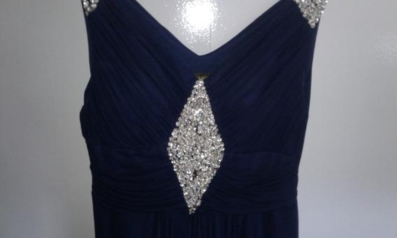 Alquiler Vestido Dama Azul Marino + Accesorios S/cargo