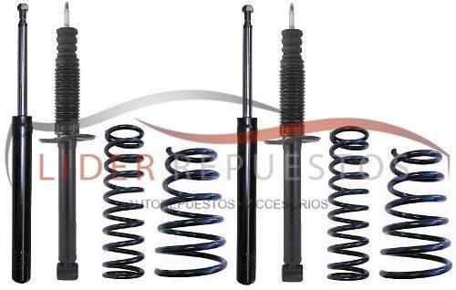 Amortiguadores Y Espirales Kit X4 Volkswagen Saveiro