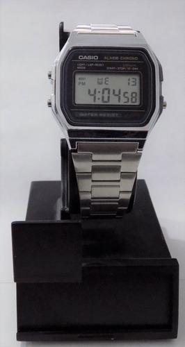 464155c3a23d Reloj Casio Vintage Original Plata A158w-1 Acero Inoxidable