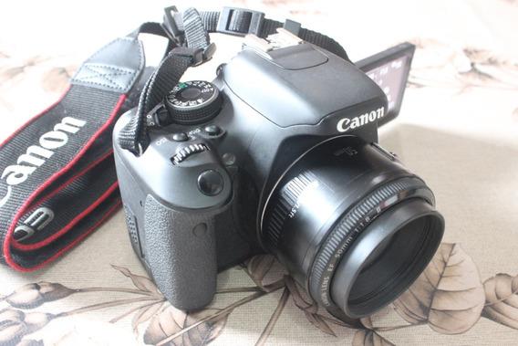 Canon T3i + Lente 50mm 1.8