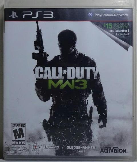 Jogo De Ps3 Call Of Duty Mw 3 Em Mídia Física.
