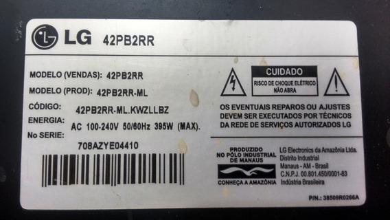 Tv LG - 42pb2rr - Retirada De Peças E Cabos