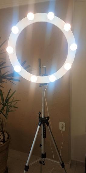 Ring Light 10 Soquete E27 + Tripé + Kit Selfie