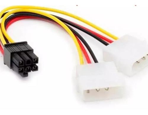 Cable Adaptador 2 Molex A 6 Pin Pci-express Tarjeta Video