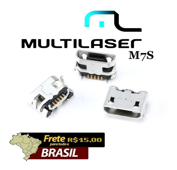 Kit 5 Pçs Conector De Carga Tablet Multilaiser - M7s