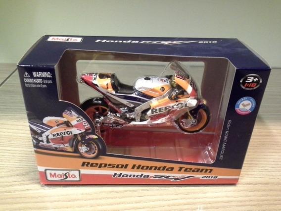 Miniatura Marc Marquez Honda Rc213v Motogp 2018 Maisto 1:18
