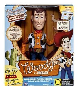 Woody Interactivo Toy Story 4 En Español Con Cordon Atras