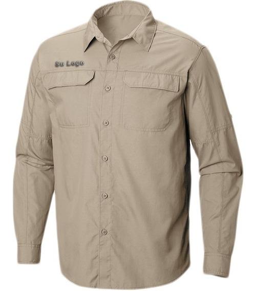 Camisa Para Uniforme Tipo Columbia Manga Larga