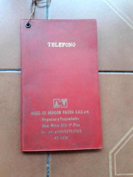 Antigua Libreta De Telefonos Sin Uso Muy Buena