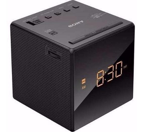 Rádio Relógio Sony Icf-c1 127v Preto - Led