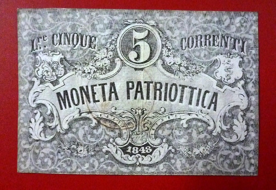 Italia / Venezia Billete 5 Liras Pick S188 Vf+ 1848