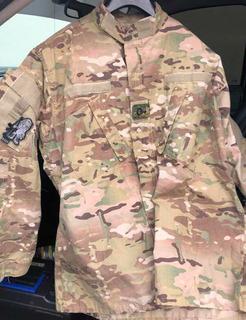 Camisa Tdu Ripstop Multicam Tipo Chaqueta Talla L De Zipper