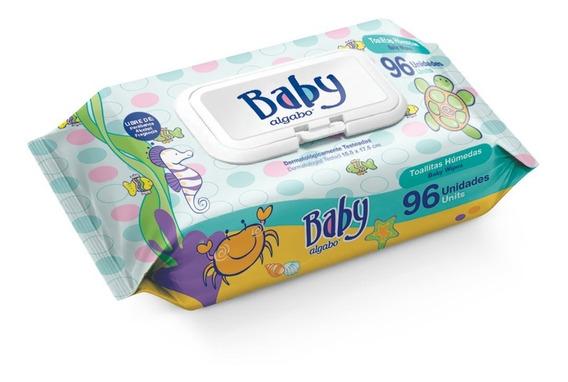 Pack X 10 Un Toallitas Húmedas Algabo Baby X 96 Un Con Tapa