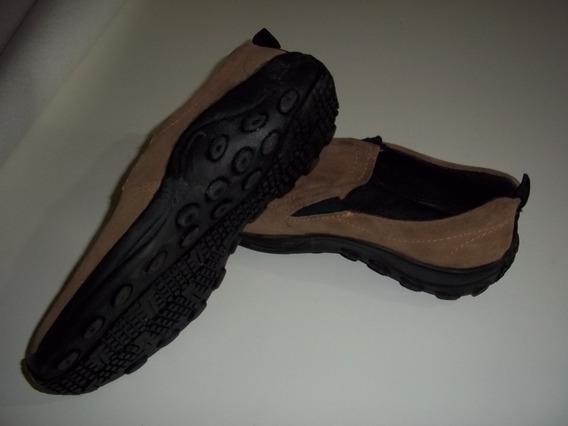 Zapatos De Gamuza, Marrón Claro, Talle 42.