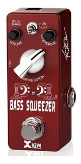 Pedal Xvive B1 Bass Squeezer Compresor Overdrive Para Bajo