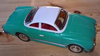 Vw Karmann Ghia De Lata, 24cm, A Fricção - Retrô, Raridade !