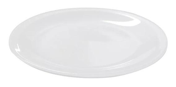 6 Platos Playos 25 Cm Porcelana Tsuji Linea 450