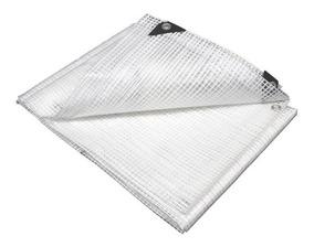 Lona Plástica Transparente Impermeável Proteção Toldo 10 X 6