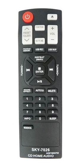 Controle Remoto Som Cd Home Lg Akb73655702