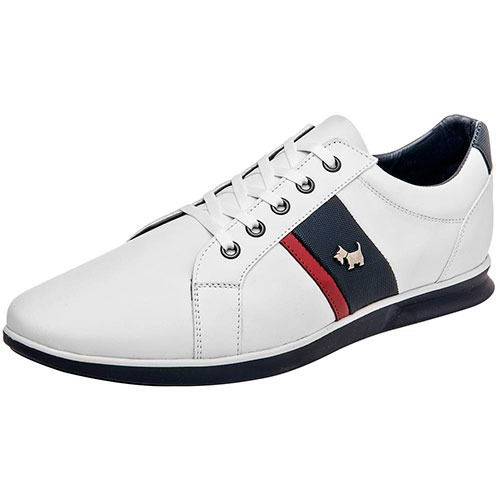 Tenis Sneaker Ferrioni Hombres Choclo Sint Blanco H30218 Dtt