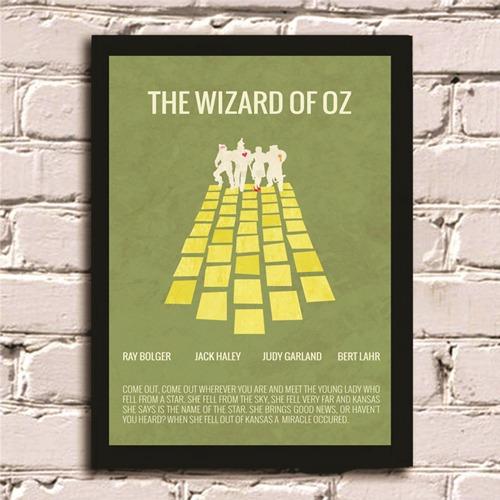 Poster Com Moldura O Mágico De Oz Quadro Decoração Casa 3