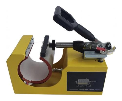 Prensa sublimadora Pelegrin XY-025 amarela e preta 110V