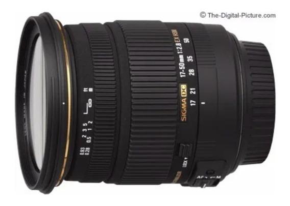 Lente Sigma 17-50mm F/ 2.8 Ex Dc Os Hsm Para Canon Dslr