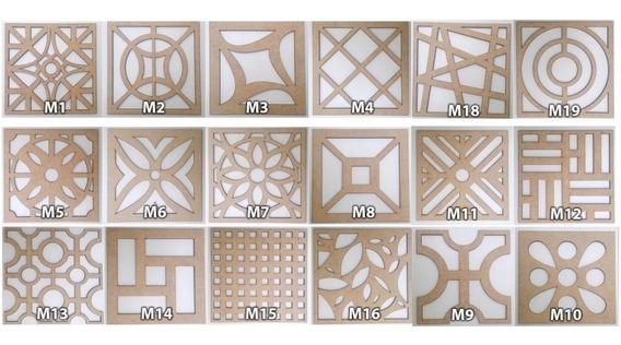 10 Painéis Decorativos Mdf Cru 45cm X 45 Cm Elemento Vazado