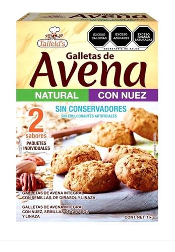 Imagen 1 de 1 de Galletas De Avena Light Natural Y Con Nuez Taifelds  1 Kg.