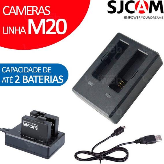 Carregador Para 2 Baterias Camera Sjcam M20 Duplo