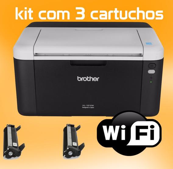 Impressora Brother Laser Toner Kit 3 Toner - Hl1212w Wifi