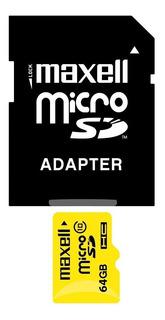 Memoria Micro Sd Maxell 64gb Clase 10