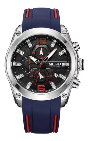Relógio Megir 2063 Masculino Original Envio Imediato Azul
