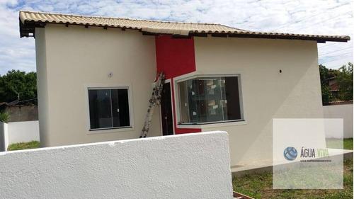 Iguaba Grande/ Cidade Nova, Residência De Esquina Com Grande Quintal, Com Rgi,  03 Quartos E Uma Linda Suíte, Por R$ 210 Mil - Ca0071