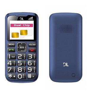 Celular 2chip,entrada Antena Rural,tecla Grande,sos,laterna