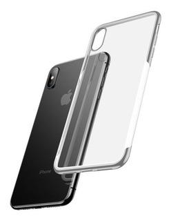 Funda iPhone XS Anti Impacto Baseus Metalizada Case Transparente Envío Gratis!