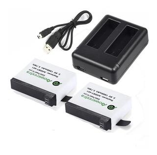 2 Baterias Cargador Camara Gopro Hd Hero 4 Ahdbt-401