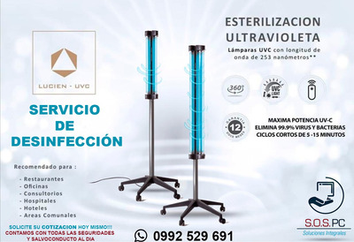 Desinfeccion Y Esterilización Luz Ultravioleta Lámparas Uvc