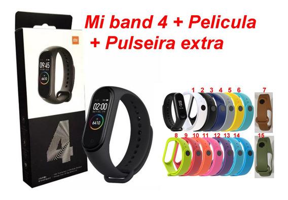 Mi Band 4 Xiaomi Relogio Inteligente+pulseira Extra+película