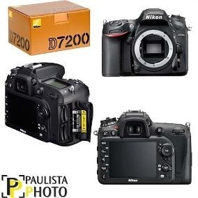 Câmera Nikon D7200 Corpo Com+baterias 1 Ano De Garantia