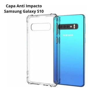 Capa Anti Shock Samsung Galaxy S10 S10 Plus Quina Reforçada