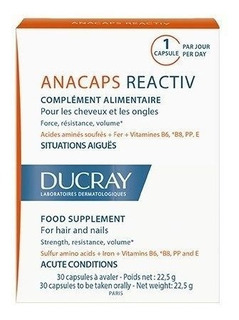 Ducray Anacaps Reactiv Tratamento Fortificante Antiqueda 90u