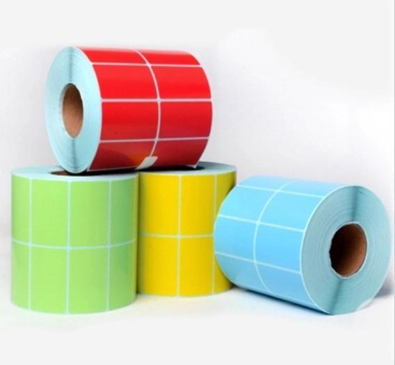 Etiquetas Autoadhesivas Color 40x30 Mm 2000 Unidades Rollo