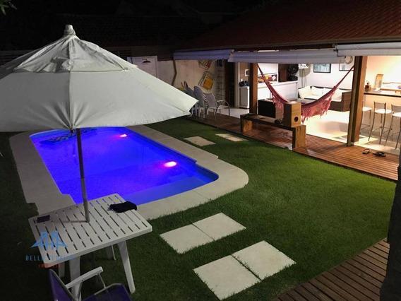 Ampla Casa Pântano Do Sul - Florianópolis, 600 Metros Da Praia, 3 Dormitórios Sendo 1 Suíte, Piscina, Churrasqueira, Forno De Pizza, Fogão A Lenha - Ca0695