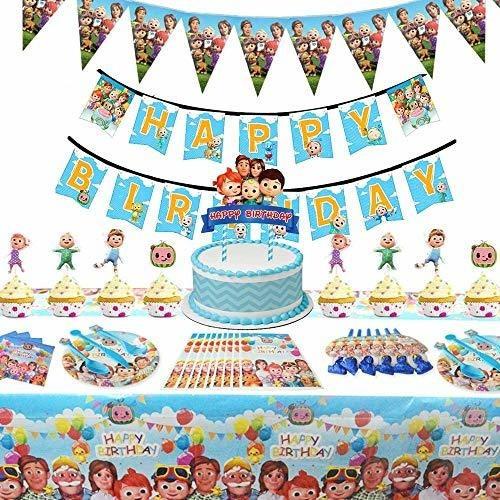 Imagen 1 de 5 de Cocomelon Birthday Party Supplies For Girl And Boy Decorati