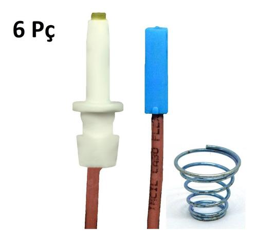 Kit Vela De Ignição Bocas Ge 6 Unidades - Com As Molas