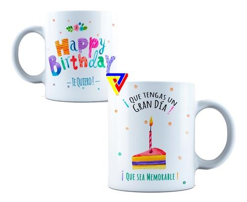 Tazas Cumpleaños Personalizada Full Color